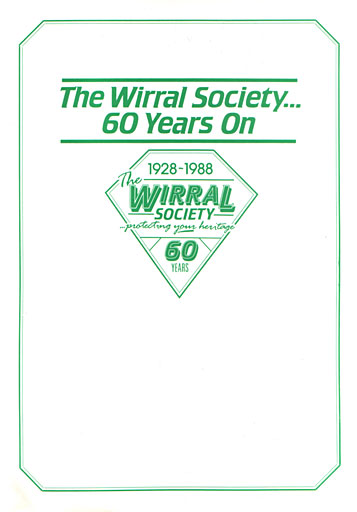 """""""Wirral Society, 60 Years On"""" booklet cover"""