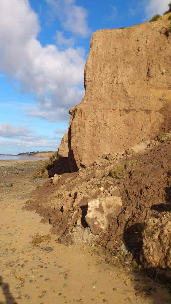 Photo of Thurstaston beach cliff erosion