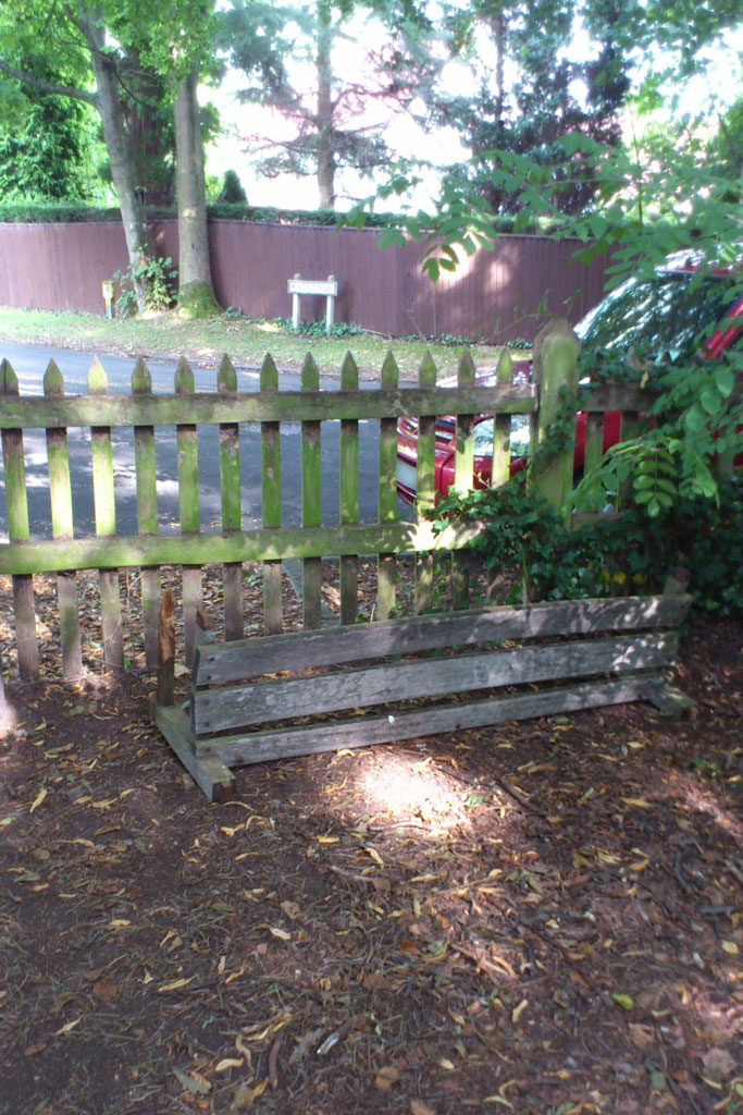 Image of Destroyed Bench
