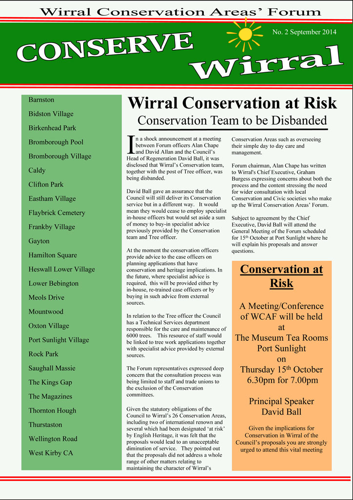 Wirral Conservation Area Forum-Newsletter-September-2014