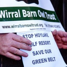 Wirral Barn Owl Trust, Wallasey Town Hall demo, 25 Feb 2019