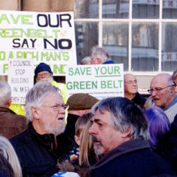 Protestors outside Wallasey Town Hall, 25 Feb 2019
