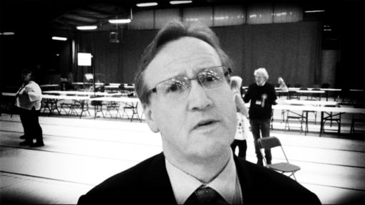 Phil Davies, ex-Leader of Wirral Council, looking disappoinrted with the result of the local council election results in 2019