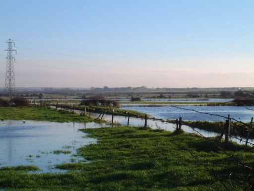 Proposed site for Hoylake Golf Resort showing flooding